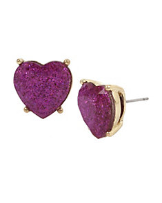 NOT YOUR BABE PURPLE HEART STUD