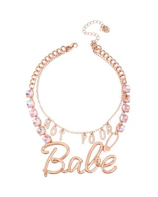 NOT YOUR BABE STATEMENT NECKLACE CRYSTAL