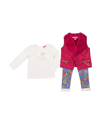 OH SO BETSEY TODDLER 3 PIECE VEST SET