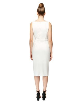 ON THE SLANT DRESS WHITE