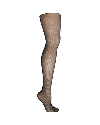 ON THE TOWN LUREX STRIPED TIGHTS