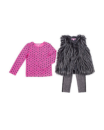 ON THE TOWN TODDLER 3 PIECE VEST SET