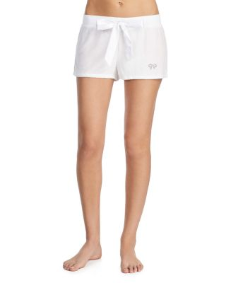 PAMPERED BRIDE SHORTS WHITE