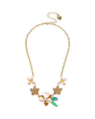 Image of PARADISE LOST FLOWER NECKLACE PINK
