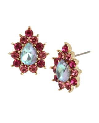 Image of PARADISE LOST STONE STUD EARRINGS PINK
