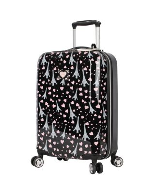 PARIS LOVE 20 INCH SPINNER BLACK MULTI
