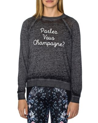 PARLEZ VOUS CHAMPAGNE BOXY TEE BLACK
