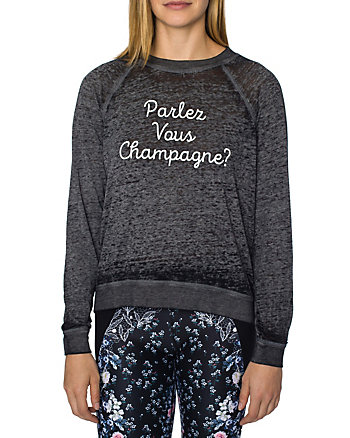 PARLEZ VOUS CHAMPAGNE BOXY TEE