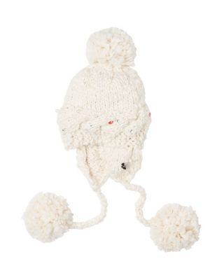 PEARLY GIRL EARFLAP HAT IVORY