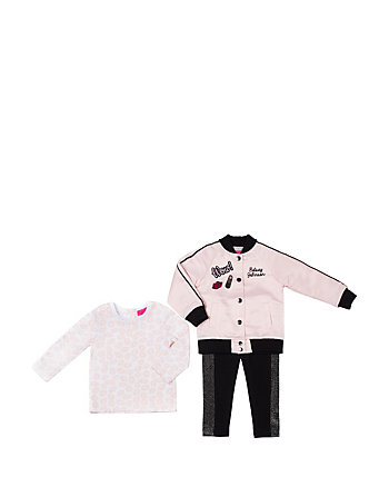 PINK LADY TOO TODDLER 3 PIECE JACKET SET