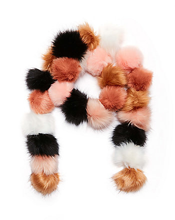 POMMY DEAREST FAUX FUR MUFFLER