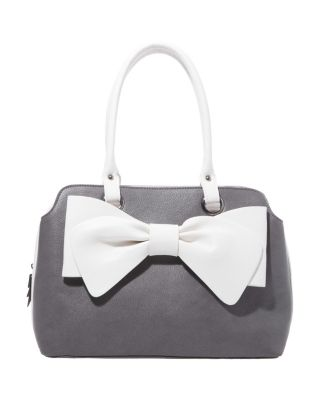 POP COLLAR BOW SATCHEL GREY