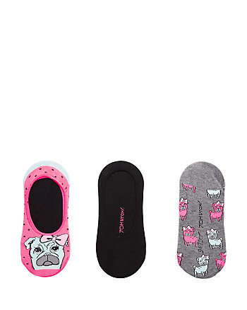 POUTY PUG FOOTIE 3 PACK