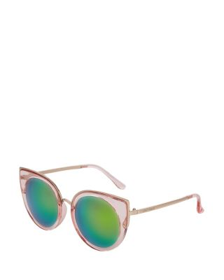 PRETTY IN PINK CAT EYE SUNGLASSES PINK