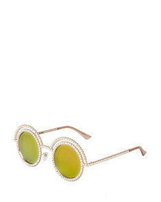 PRETTY PEARL ROUND SUNGLASSES