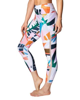 PRINTED MESH TRIM LEGGING MULTI