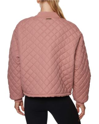 Image of QUILTED BOMBER JACKET BLACK