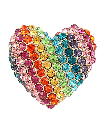 RAINBOW CONNECTION HEART RING