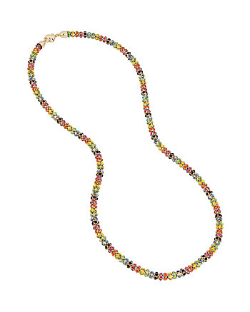 RAINBOW CONNECTION MESH LONG NECKLACE