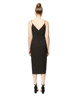 REVVED UP FAUX WRAP DRESS BLACK