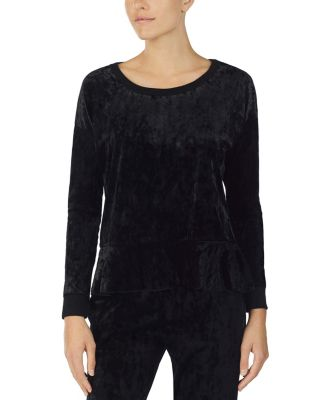 Image of ROCK AND ROOL RUFFLE TOP BLACK