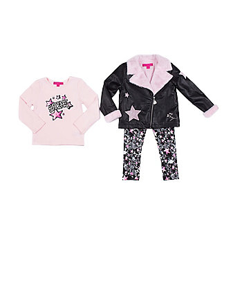 ROCK STAR 4-6X 3 PIECE JACKET SET