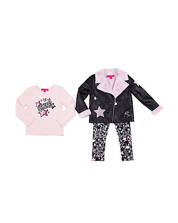 ROCK STAR TODDLER 3 PIECE JACKET SET