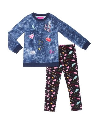 ROCKER GIRL 4-6X TWO PIECE SET BLUE