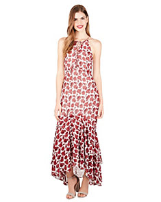 ROSEY LACE UP HIGH LOW MAXI DRESS