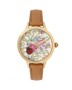 ROUND AND ROUND LADYBUG WATCH