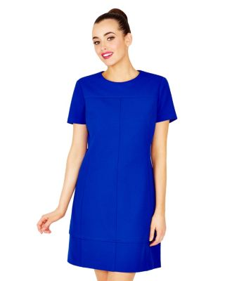 ROYALTON SHORT SLEEVE DRESS BLUE