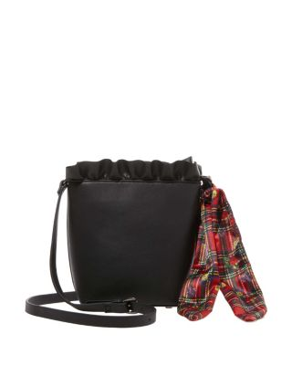 Image of RUFFLES FOR DAYS SMALL BUCKET BAG BLACK
