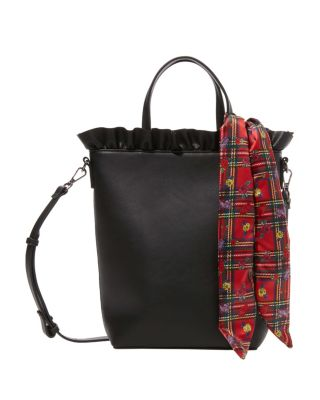 Image of RUFFLES FOR DAYS TOP HANDLE TOTE BLACK