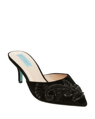 Photo of Sb-Coset Navy Satin by Betsey Johnson womens shoes - buy Betsey Johnson footwear online