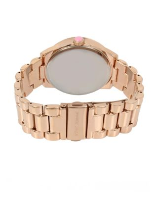 SCATTERED RAINBOW CRYSTALS ROSE GOLD WATCH ROSE GOLD