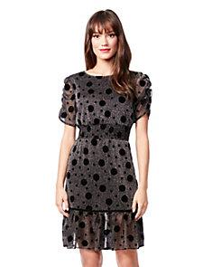 Seeing Spots Metallic Dress