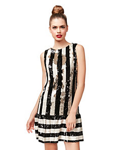 SEQUIN STRIPETASTIC DRESS