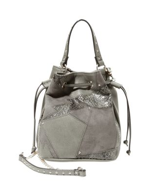 SHOCK IT TO ME DRAWSTRING CROSSBODY GREY