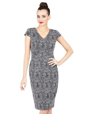 SILVER WHIM DRESS BLACK/SILVER