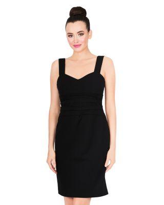 SIMPLE SILHOUETTE DRESS BLACK