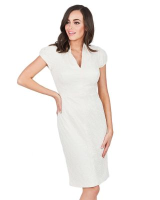 SIMPLE SOPHISTICATION DRESS CREAM FABRIC