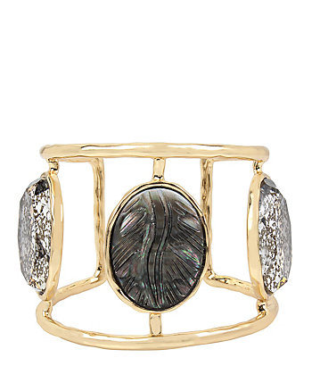 SKELETONS AFTER DARK CAMEO HINGE CUFF