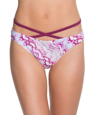 SMOOTH OPERATOR CRISS CROSS HIPSTER BOTTOM PINK MULTI
