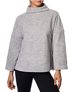 SPACEDYE FLEECE BOXY PULLOVER