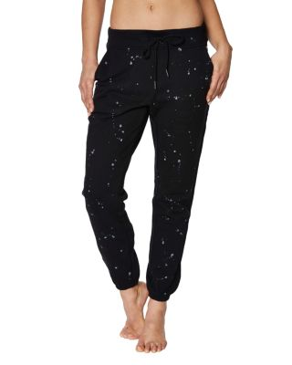 SPLATTERED SWEATPANT BLACK