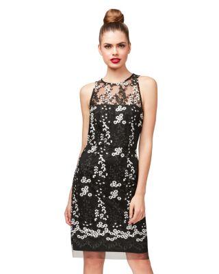 SPRINKLING DAISIES DRESS BLACK