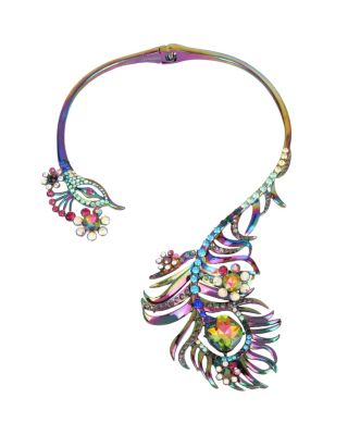 STATEMENT CRITTERS PEACOCK NECKLACE MULTI