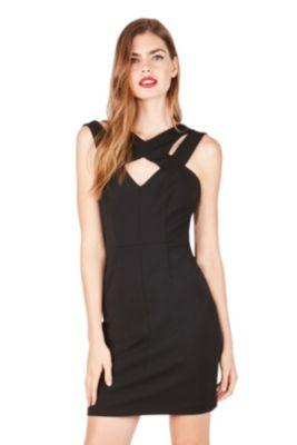 STRAPPED IN DRESS BLACK