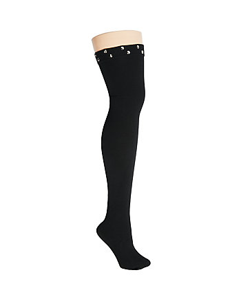 STUDDED OVER THE KNEE SOCK