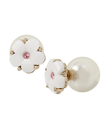 SUMMER FLOWERS PEARL EARRINGS